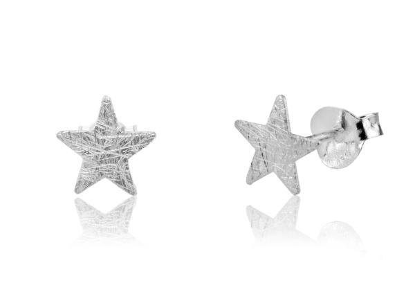silver stud earrings small silver stud earrings brushed silver stud earrings silver modern stud earrings Sterling silver studs brushed