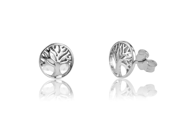 925 Sterling Silver Tree Post Earrings